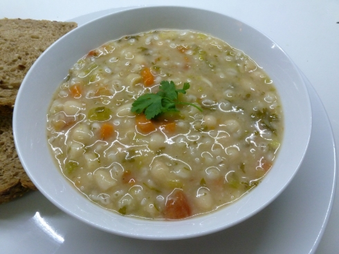 Barley, Mushroom, Bean and Leek Soup