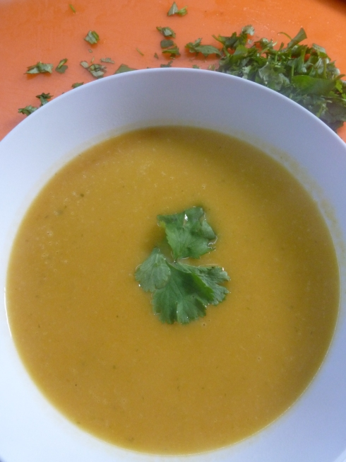 Roasted Pumpkin, Chili and Coriander Soup
