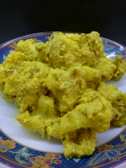 Cauliflower in Indian Spiced Coconut Sauce